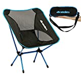 Aluminum Folding Lawn Chairs Camping Foldable Chairs with Bag for Adults–Portable, Durable, Collapsible, and made of Ultra Lightweight Aluminum Alloy - Use as a Love Seat|Lawn Chair|for Sports, RV Camping, and Fishing (Blue)