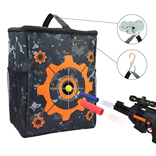 Uwantme Target Pouch Storage Carry Equipment Bag With 2Pcs Hooks For Nerf N Strike Elite Mega Rival Series