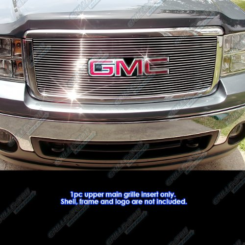 APS G66474A Polished Aluminum Billet Grille Bolt Over for select GMC Sierra 1500 (Gmc Sierra Bolt)
