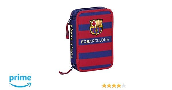 Futbol Club Barcelona - Plumier Doble pequeño 34 Piezas (Safta 411529054): Amazon.es: Equipaje