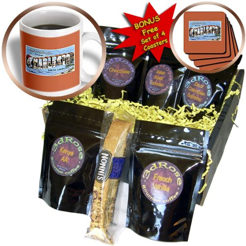 BLN Vintage US Cities and States Postcards - Greetings from Charleston South Carolina Ocean Scene - Coffee Gift Baskets - Coffee Gift Basket (cgb_170615_1)