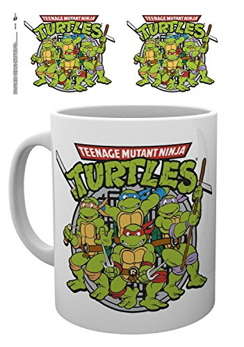 Set: Teenage Mutant Ninja Turtles, Retro Photo Coffee Mug (4x3 inches) And 1x 1art1 Surprise Sticker