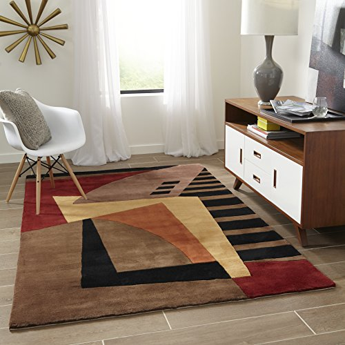 Runner Wave Collection New Rug - Momeni Rugs NEWWANW-22POM2680 New Wave Collection, 100% Wool Hand Carved & Tufted Contemporary Area Rug, 2'6