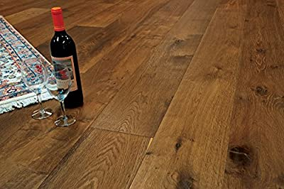 """Wide Plank 7 1/2"""" x 5/8"""" European French Oak (Montana) Prefinished Engineered Wood Flooring Samples at Discount Prices by Hurst Hardwoods"""