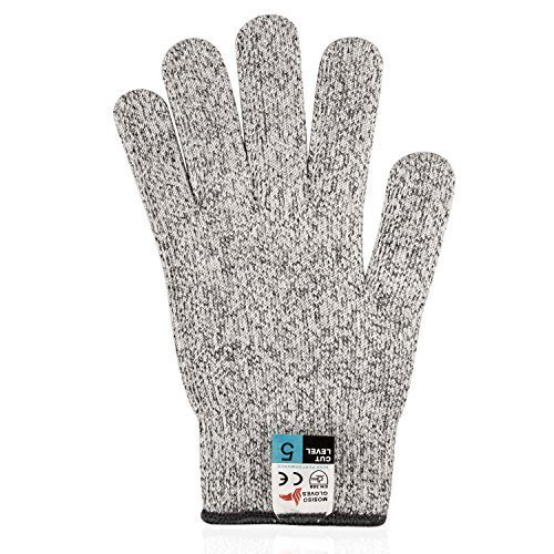 Mosiso CE Level 5 Protection Cut Resistant Gloves for Food