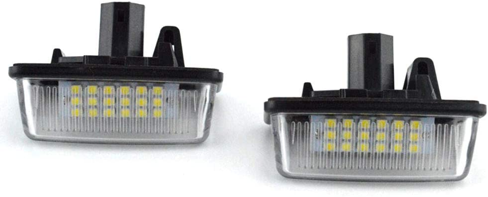 Pumpumly Lot de 2 feux de plaque dimmatriculation 12 V 18 LED SMD pour Toyota Corolla E11 Crown S180 Starlet EP91 Vios Previa ACR50 GSR50