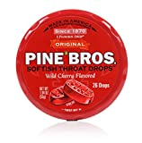 Pine Bros Throat Drops Puck, Wild Cherry, 26 Count (Pack of 72)