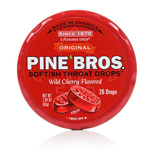 Pine Bros Throat Drops Puck, Wild Cherry, 26 Count (Pack ...