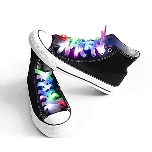 Surepp 5 Different Colors Nylon Waterproof Shoestring LED