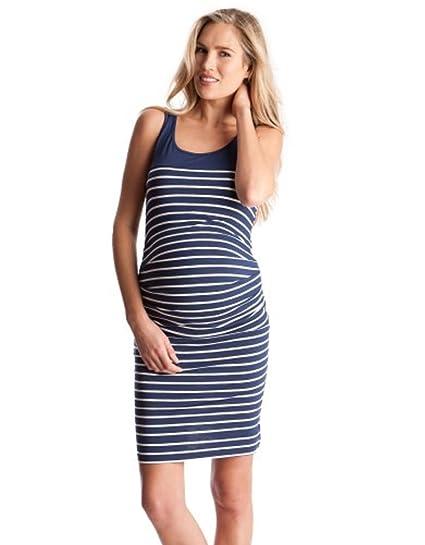 851c9a8012 Seraphine Nautical Stripe Bodycon Maternity Dress (10) at Amazon ...
