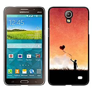 FU-Orionis Colorful Printed Hard Protective Back Case Cover Shell Skin for Samsung Galaxy Mega 2 - Love Heart Balloon
