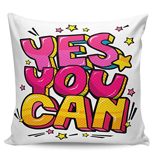 OUR WINGS Cartoon Letter Clip Art Throw Pillow Cover Decorative Cushion Pillowcase for Bed Sofa Couch Car 20
