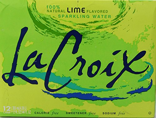 La Croix Sparkling Water, Lime, 12 ounce Can (Pack of 12)