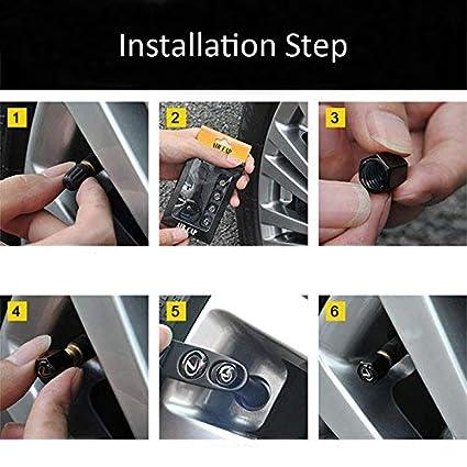 Alichee Car Wheel Tire Valve Caps Tyre Stem Air Caps Keychain Combo Set for Audi S