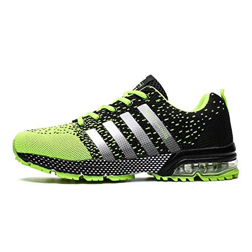 - TORISKY Men's Women's Tennis Shoes Trail Running Racquet Sneakers Air Shoe Lightweight Gym Jogging Walking Casual Sports Max Fitness Male Athletic Wear(8702-Green 45)