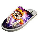 Cotton Home Slippers,Unisex Halloween Cute Pumpkin Comfortable Creative Printing Lightweight Slippers for House