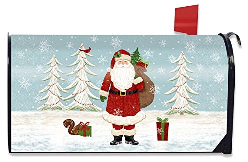 Briarwood Lane Christmas Joy Magnetic Mailbox Cover Santa Claus Holiday Presents (Santa Claus Present)