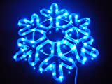 SNOWFLAKE 18-INCH PATTERN A. BLUE. CHRISTMAS LIGHTS. CHRISTMAS DECORATION YARD LIGHTS