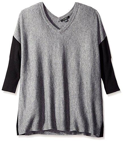 acrobat-womens-contrast-sleeve-sweater-grey-black-m-l