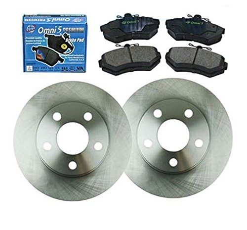 ONNURI Fits 1995-2000 Ford Contour 2.0L Front Left + Right Brake Rotors & Pads Set - FK0117