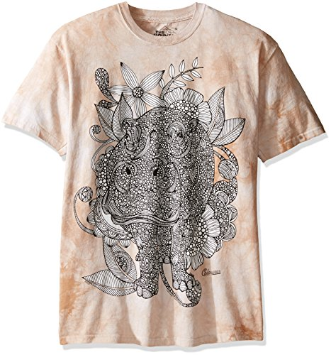 The Mountain Men's Colorwear Hippotastique Hippo Adult Coloring T-Shirt, Beige, - Clothing Overstock Com