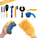 10 Pieces Precision Bicycle Cleaning Brush Tool