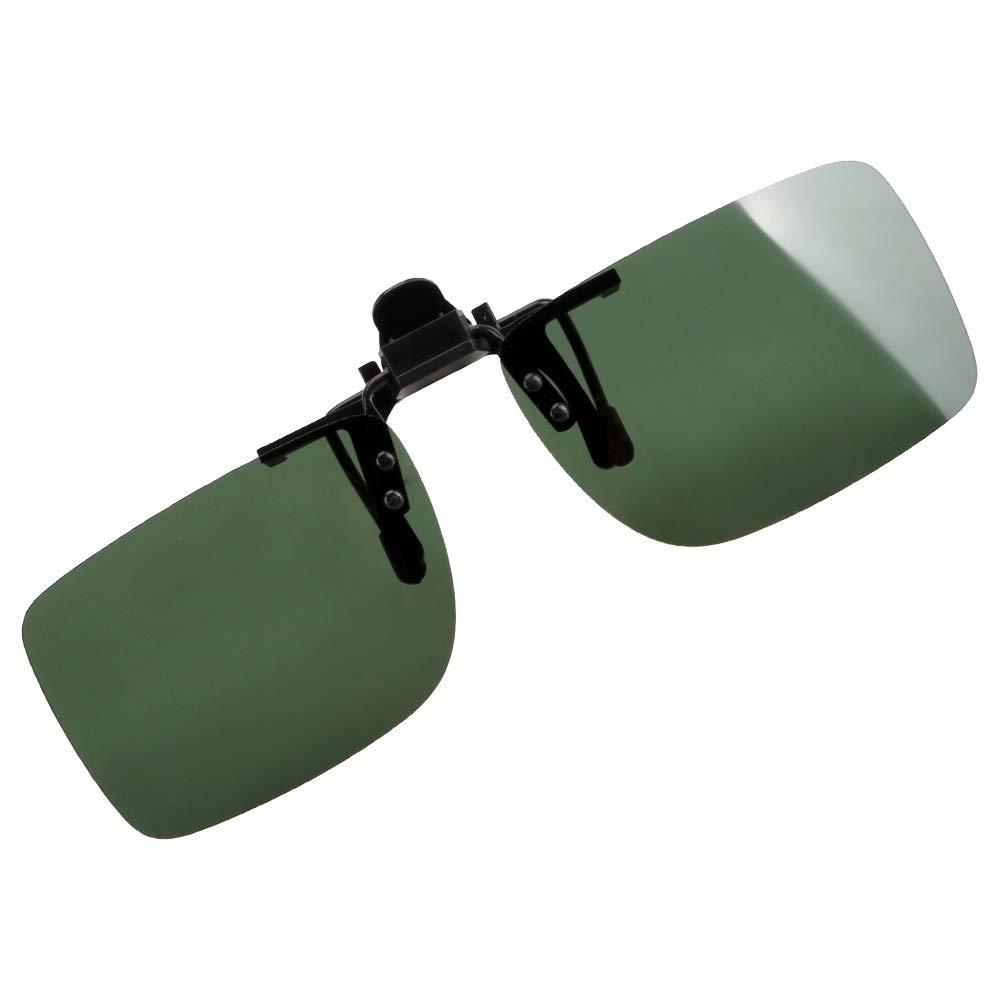 Gr/ün UVB zum Anklipsen Anti-UVA Nachtsichtgl/äser polarisiert Sonnenbrille