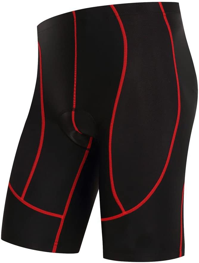 logas Cuissard Cyclisme Shorts Velo avec Sweat Absorbent Volatility Fast Drying Padded 3D Gel pour Homme Femme