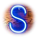 ZOLED Blue Neon Signs, LED Letter, Neon Light, LED Sign, Letter Lights, Lighted Letters, Marquee Letter, Home Decor for Bar, Wall, Bedroom (Letter S)