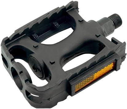 1 par de pedales reflectores con rosca W-9/16, para bicicleta de ...