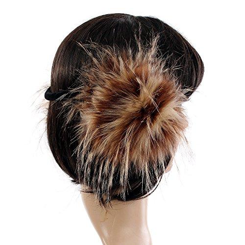 pelliccia in oversize beige sintetica e Moda inverno Orecchie inverno Accessorio marrone celebrità RqTgpB