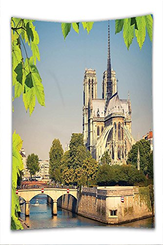 Costume Notre Dame De Paris (Nalahome Fleece Throw Blanket Paris Decor Collection Notre Dame De Paris Historical Architecture Heritage Medieval European Building)