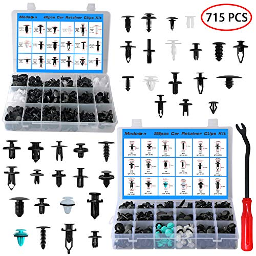 Car Retainer Clips Fasteners Cars Body Kits 32 Most Popular Sizes 715 PCS Car Door Panel Trim Clips Kit 1 Pcs Fastener Remover for Ford GM Toyota Honda Chrysler BMW Benz Nissan Subaru Audi Mazda