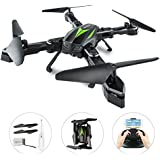AKASO Drone Quadcopter with 720P HD Camera FPV Drones, APP Live Video 2.4GHz 6-Axis Gyro, Foldable Arms, Altitude Hold Quadcopter Drones for Beginners (A200 2018 Version)