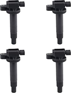 JDMON Compatible with Ignition Coils Toyota Yaris/Echo/Prius/Scion xA/xB/ 1.5L UF316 C1304 Replace 9091902240 set of 4