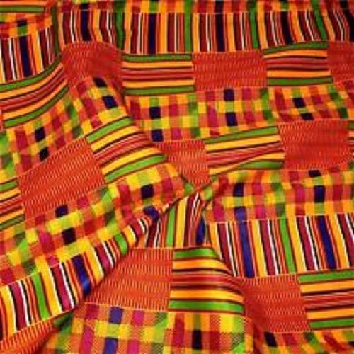 African Kente Fabric Fabric #18- One Yard Cotton 44