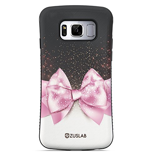 Galaxy S8 Case, ZUSLAB Pattern Design, Shockproof Armor Bumper, Heavy Duty Protective Cover For Samsung Galaxy S8 (Ribbon Bow) Ribbon Cell Phone Case