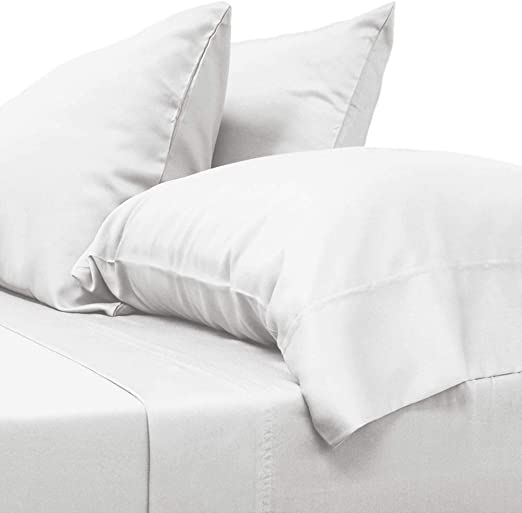 Twin//Twin XL, White Hotel Quality 100/% Long Staple Cotton One Bed Cool Duvet Cover 300 TC Percale