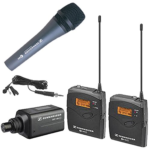 - Sennheiser EW100 ENG G3-A Wireless System with EK 100 G3 Diversity Receiver, Frequency Band A with a Sennheiser E-835 Microphone