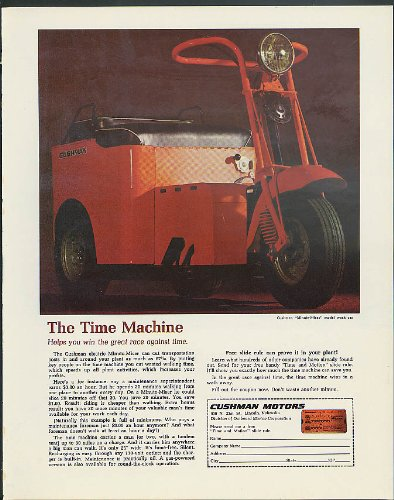 The Time Machine helps you win Cushman Motors Minute-Miser Work Car ad 1968