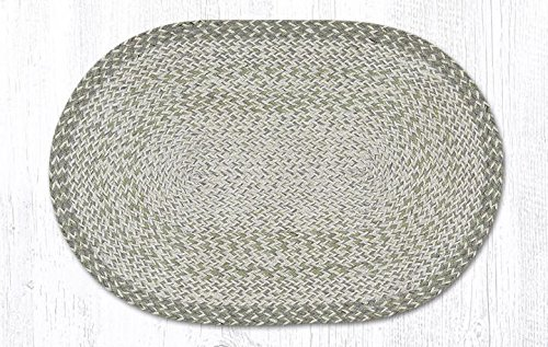 """Earth Rugs Jute Area Rugs Itc-15 Sage In The City Oval Rug 20"""" X 30"""" 30 X 0.17 X 20 Inches Multicolored from Earth Rugs"""