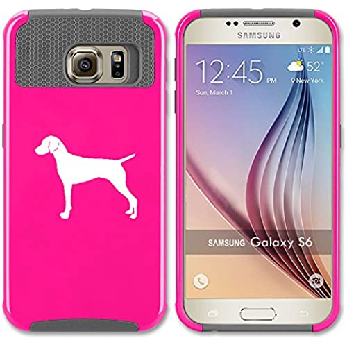 Samsung Galaxy S7 Shockproof Impact Hard Soft Case Cover Vizsla (Hot Pink-Gray) Sales