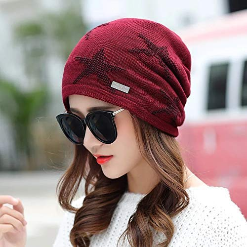 (Fashion Warm Comfortable Hats for Women Hat wool hat autumn and winter knit hat baotou hat youth outdoor thickening plus velvet warm headgear)