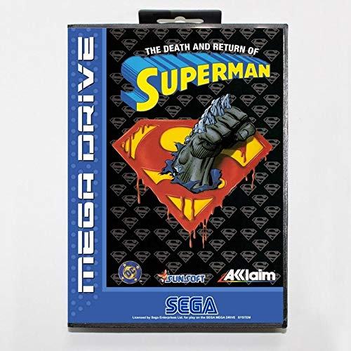 Return of Superman with box for Sega MegaDrive Video Game Console 16 bit MD card - MD card Game Card For Sega Mega Drive For Genesis ()