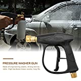 Houkiper High Pressure Washer Gun, 3000PSI Car Wash Water Gun - M22 metric thread