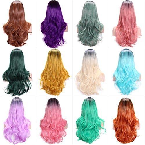 Pelucas de cabello largo y largo ondulado de YoZhanhua ...