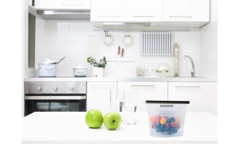 Reutilizable bolsas de almacenamiento de alimentos de silicona con ...
