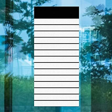 CGSignLab | 36x80 Inner CircleHorizontal Pinstripes Perforated Window Decal 5-Pack