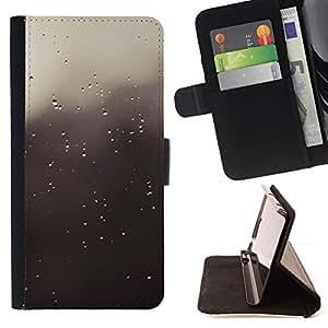 Momo Phone Case / Flip Funda de Cuero Case Cover - Gotas grises;;;;;;;; - LG G4
