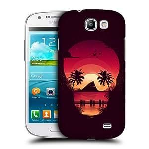 AIYAYA Samsung Case Designs Beach Skullscape Protective Snap-on Hard Back Case Cover for Samsung Galaxy Express I8730